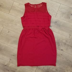 LOFT by Ann Taylor Party Dress Red {Size 0}
